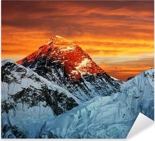 Sticker Pixerstick Soirée vue de couleur de l'Everest de Kala Patthar
