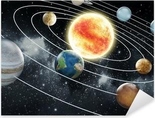 Solar system illustration Pixerstick Sticker