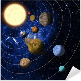 Sticker Pixerstick Solar system