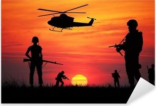 Sticker Pixerstick Soldats à la guerre