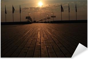 Sticker Pixerstick Sopot molo Wschód słońca