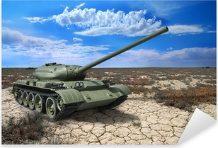Soviet tank T-54 of 1946 year Pixerstick Sticker