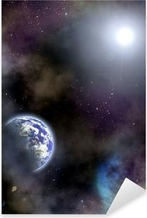 space scenario Pixerstick Sticker