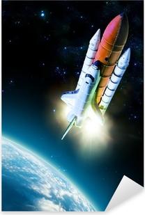 Space shuttle Pixerstick Sticker