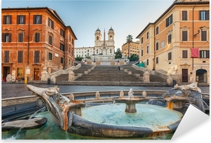 Spanish Steps at morning, Rome Pixerstick Sticker