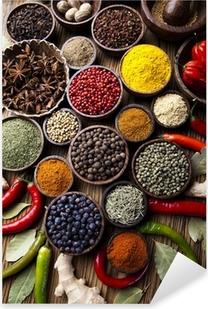 Spice Still Life, wooden bowl Pixerstick Sticker