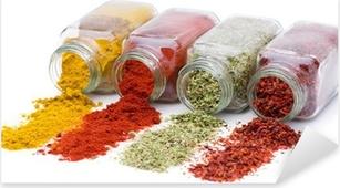 Pixerstick Sticker Spice uitgieten van set kruidkruiken