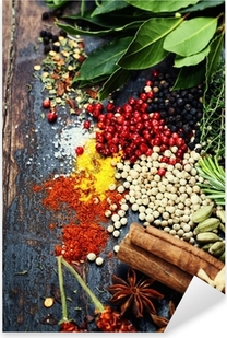 Spices and herbs Pixerstick Sticker