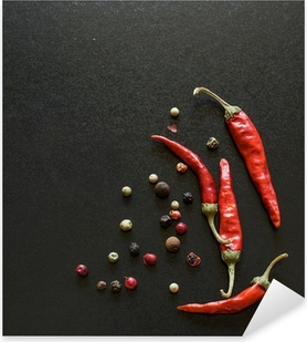 Spices on a blackboard Pixerstick Sticker