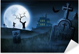 Pixerstick Sticker Spooky Halloween Night