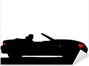 Sport car silhouette Pixerstick Sticker