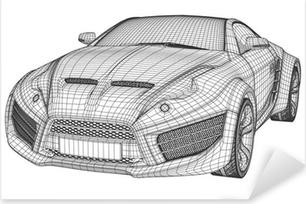 Sports car blueprints non branded concept car sticker pixers sports car blueprint non branded concept car pixerstick sticker malvernweather Choice Image