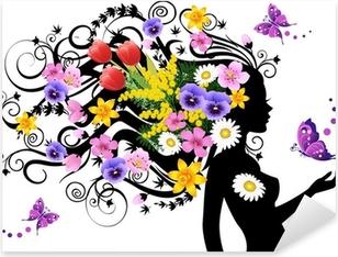Spring fairy Pixerstick Sticker