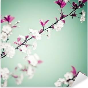 Spring floral background Pixerstick Sticker