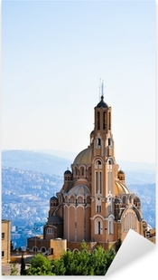 Sticker Pixerstick St Paul basilique de Harissa, près de Beyrouth au Liban