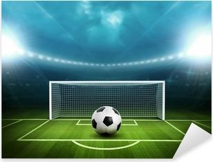 Stadium with soccer ball Pixerstick Sticker