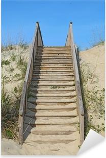 Stairway to a public beach access vertical Pixerstick Sticker