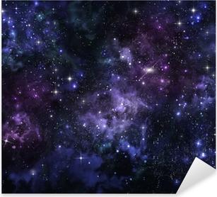 starry sky in the open space Pixerstick Sticker