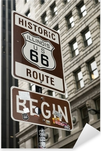 Start of Route 66, Chicago Pixerstick Sticker