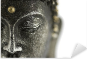 Sticker Pixerstick Statue de bouddha sur blanc