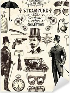Steampunk gentlemen collection Pixerstick Sticker