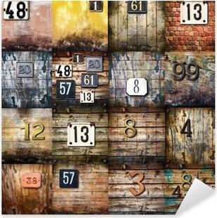 Pixerstick Sticker Stedelijke kunst collage