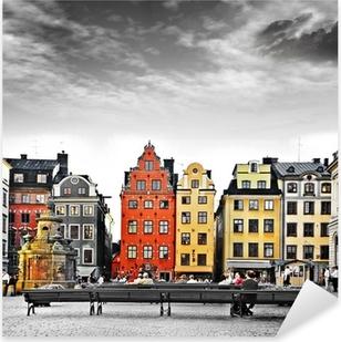 Pixerstick Sticker Stockholm, hart van de oude stad,