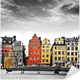 Stockholm, heart of old town, Pixerstick Sticker