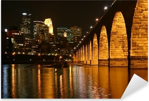 Stone Arch Bridge, Minneapolis Minnesota Pixerstick Sticker