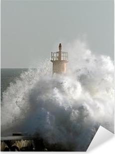 Stormy wave Pixerstick Sticker