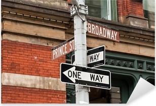 Pixerstick Sticker Straatnaamborden en verkeerslichten in New York, USA