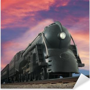 streamliner train Pixerstick Sticker