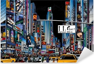 street in New York city Pixerstick Sticker