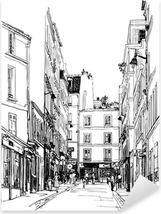 street near Montmartre in Paris Pixerstick Sticker