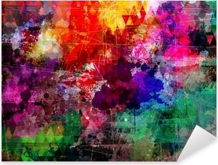 Sticker Pixerstick Style grunge aquarelle abstraite de fond