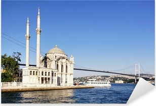 Summer at Ortakoy with Mecidiye Mosque Pixerstick Sticker