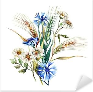 Summer Bouquet Pixerstick Sticker