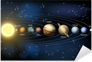 Sun and planets of the solar system Pixerstick Sticker