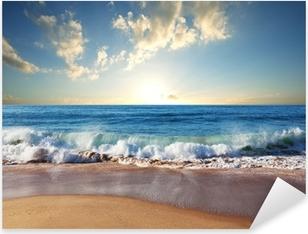 Sunset at the beach Pixerstick Sticker