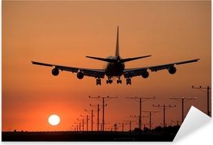 sunset jet landing 3 Pixerstick Sticker