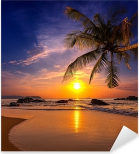 Sunset over the sea. Province Khao Lak in Thailand Pixerstick Sticker