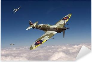 Supermarine Spitfire Pixerstick Sticker