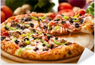 Supreme Pizza lifted slice 3 Pixerstick Sticker