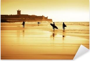 Sticker Pixerstick Surfers silhouettes