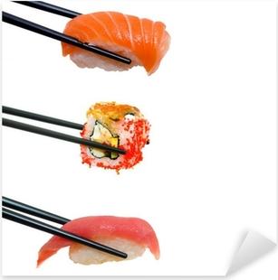 Sticker Pixerstick Sushi avec des baguettes