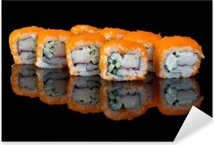 sushi with flying fish eggs Pixerstick Sticker