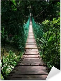 suspension bridge in the tropical jungle Pixerstick Sticker