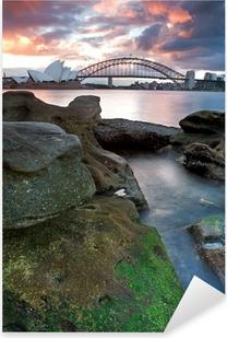 Pixerstick Sticker Sydney Opera House en de Harbour Bridge ..