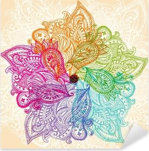 Sticker Pixerstick Symbole de Mandala