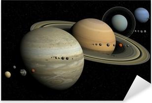 système solaire Pixerstick Sticker